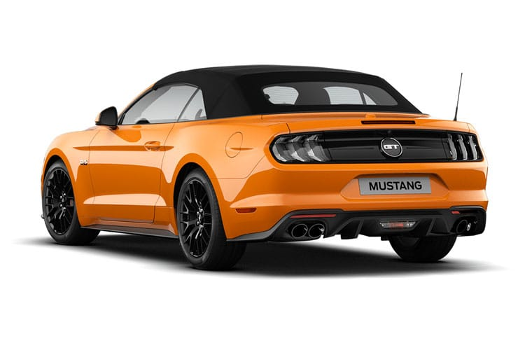 Ford Mustang Convertible 5.0 V8 450PS GT 2Dr Manual back view