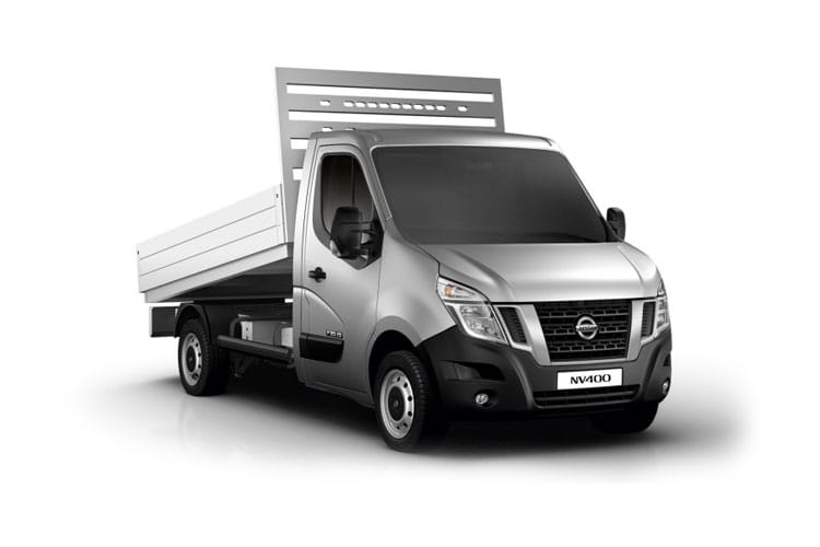Nissan NV400 L2 35 FWD 2.3 dCi FWD 150PS Tekna Tipper Manual [Start Stop] front view